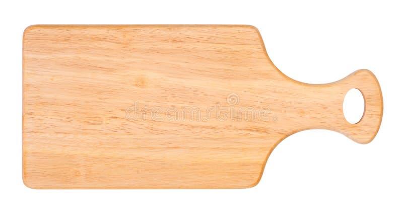 Panneau de découpage en bois d'isolement sur le fond blanc photo libre de droits