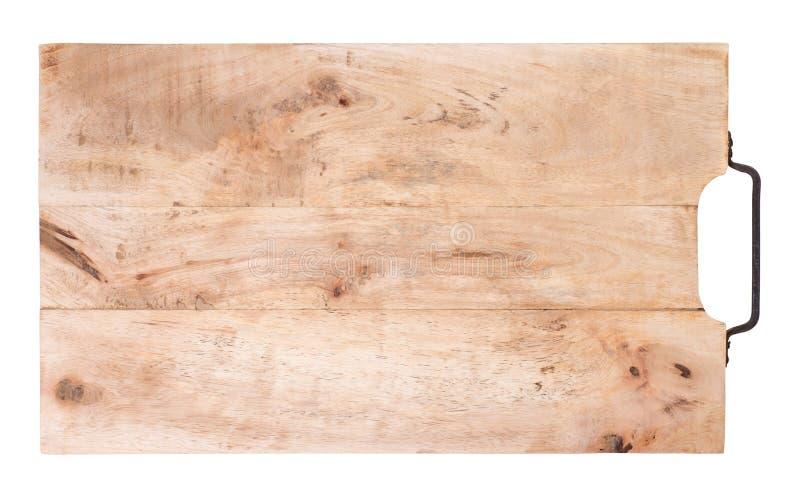 Panneau de d?coupage en bois d'isolement sur le fond blanc photo libre de droits