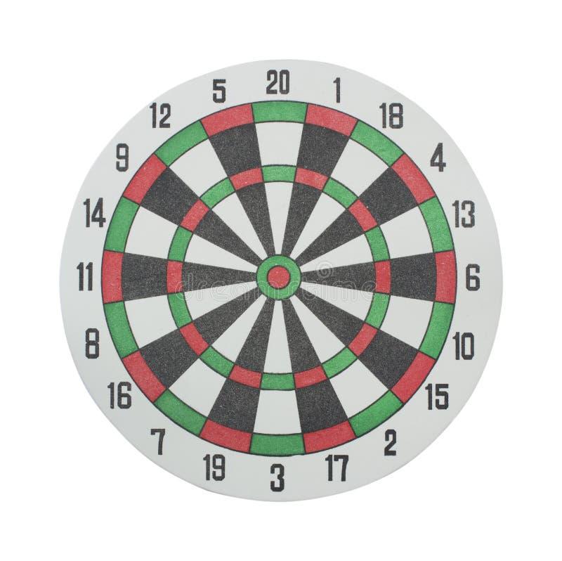 Panneau de dards classique sur un blanc image stock