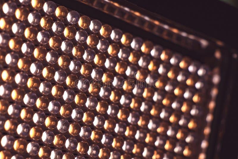 Panneau de LED avec les diodes légères image libre de droits
