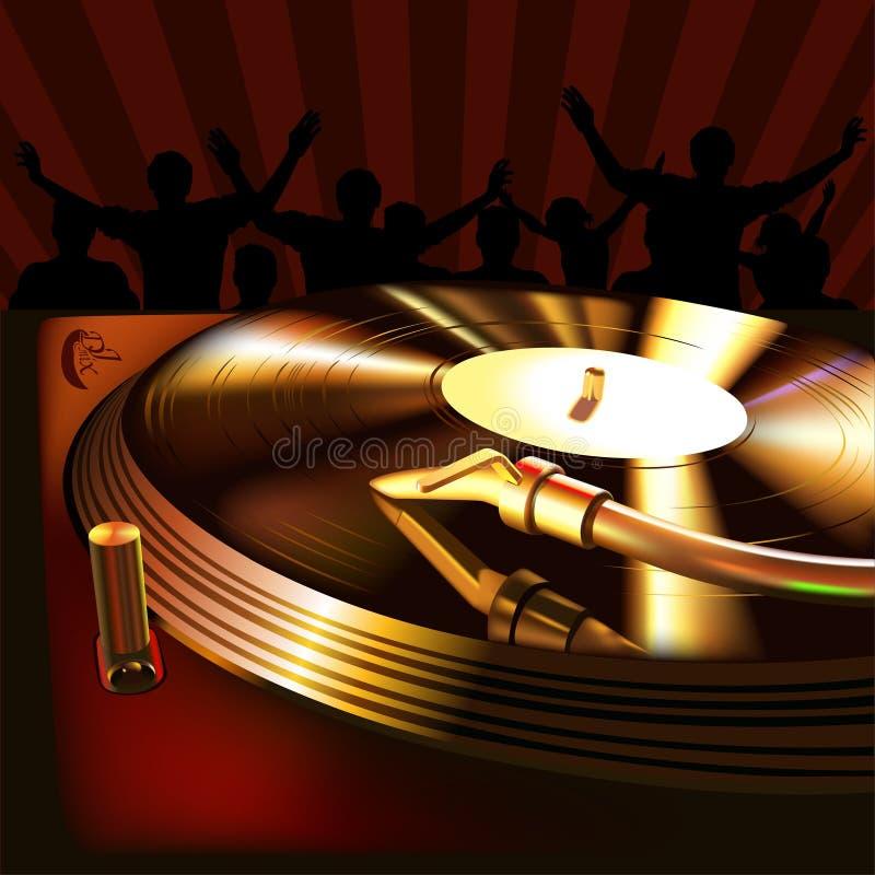 Panneau de mélange du DJ illustration de vecteur