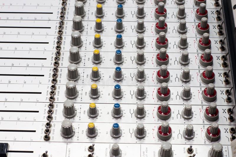 Panneau de mélange sonore photos stock