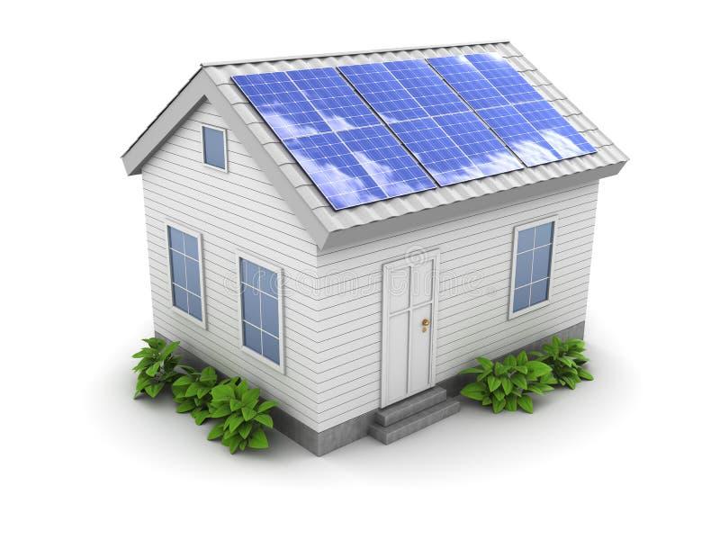 panneau de maison solaire illustration libre de droits
