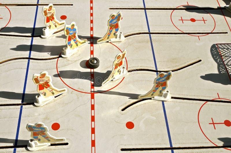 Panneau de match de hockey de bidon de dessus de Tableau image libre de droits