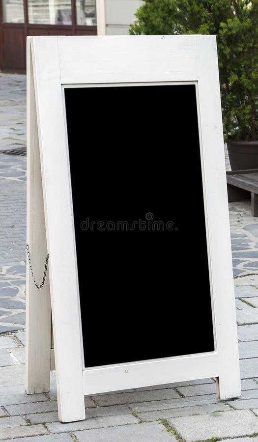 Panneau de menu de restaurant photo stock
