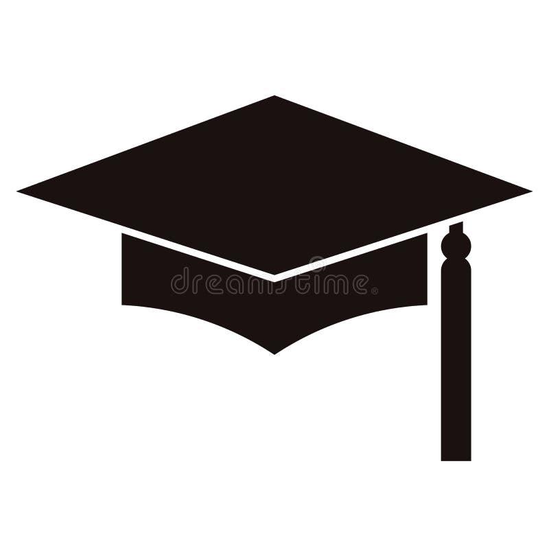 Panneau de mortier ou chapeau d'obtention du diplôme, symbole d'éducation illustration stock