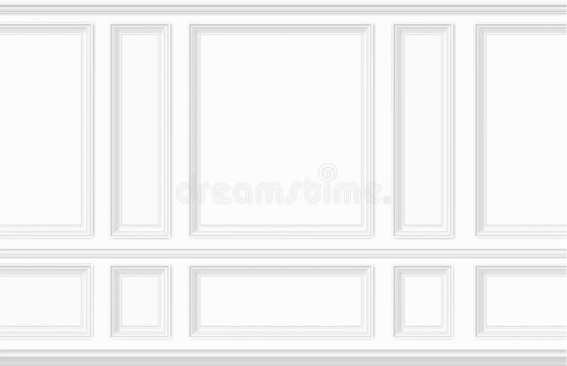 Panneau de mur blanc de moulage illustration de vecteur