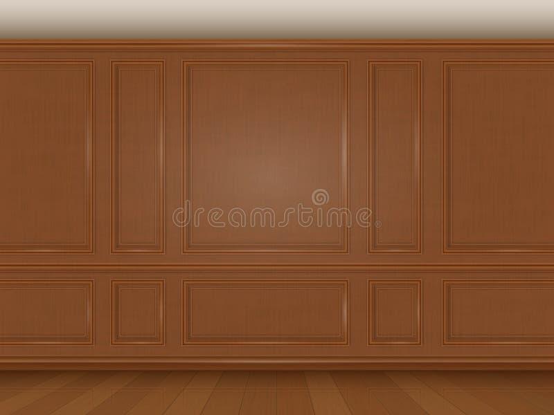 Panneau de mur en bois illustration libre de droits