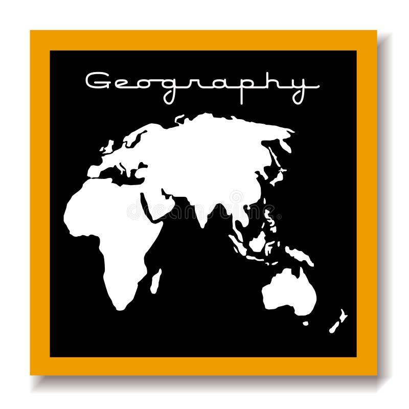 Panneau de noir d'educaton de géographie illustration de vecteur