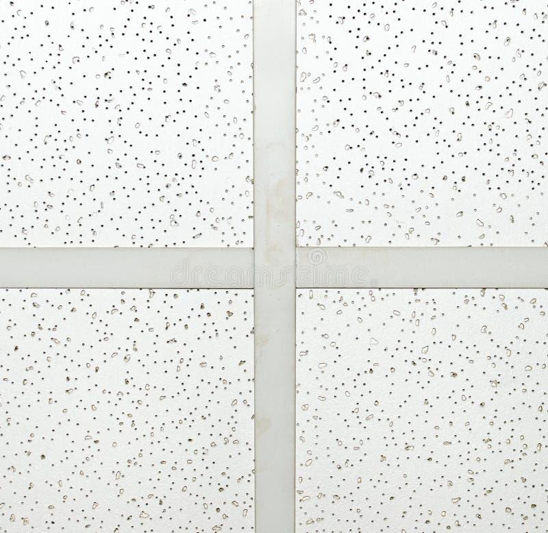 Panneau de plafond de gypse avec le T-Bar photos libres de droits