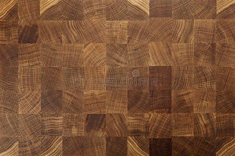 Panneau de plaque de découpage de grain d'extrémité de boucher en bois de chêne image libre de droits