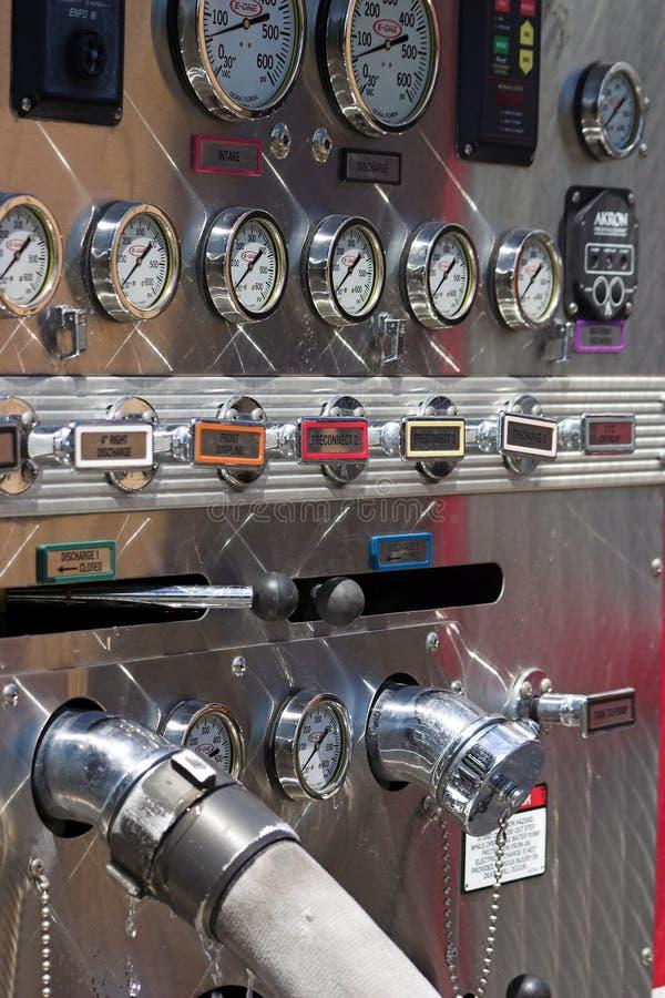 Panneau de pompe de corps de sapeurs-pompiers image libre de droits