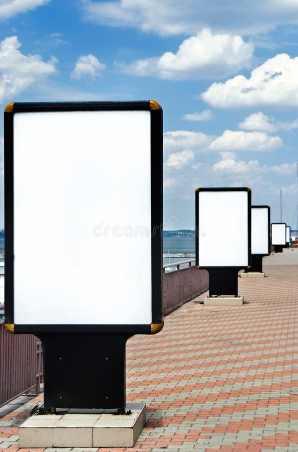 Panneau de publicité photo libre de droits