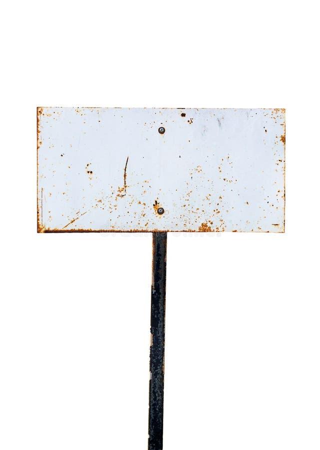 Panneau de signe en métal image stock