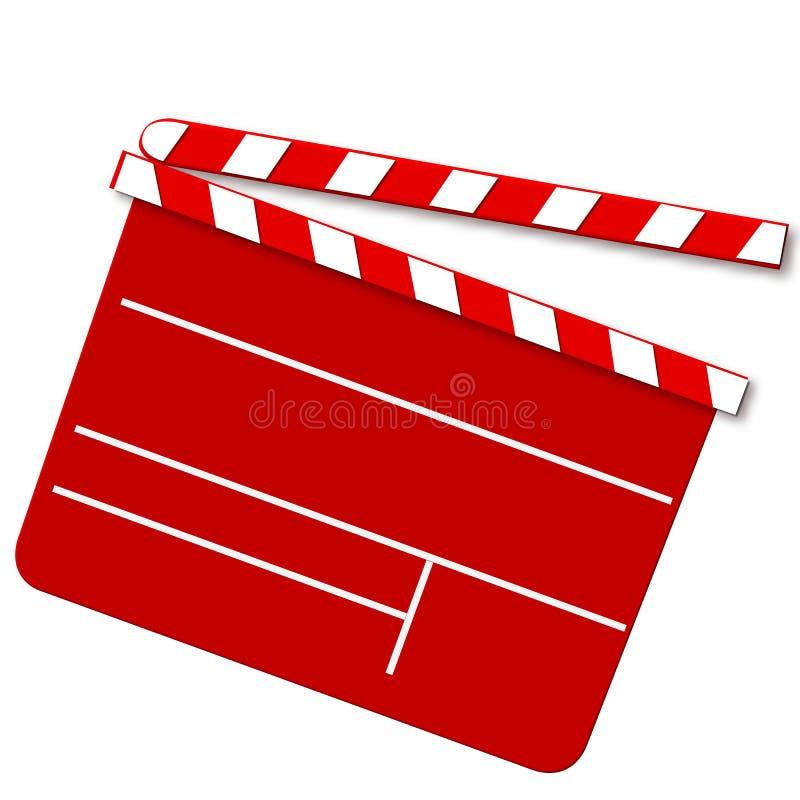 Panneau de tape de film en rouge illustration de vecteur