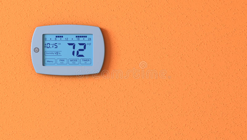 Panneau de thermostat illustration de vecteur