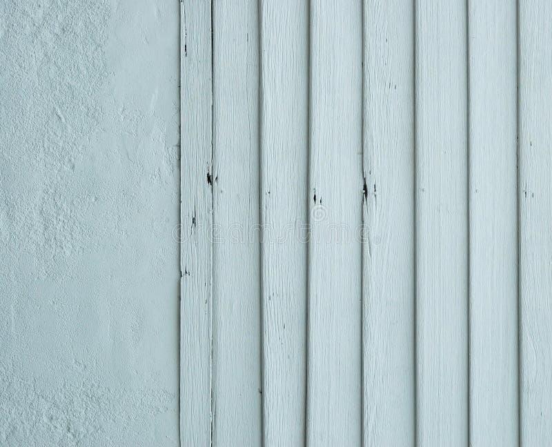 Panneau en bois bleu peint. photos stock
