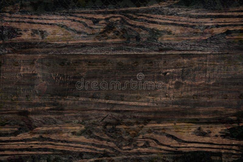 Panneau en bois brun de fond images stock