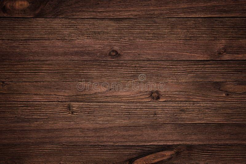 Panneau en bois de planche de brun foncé pour le mur et le plancher photos libres de droits