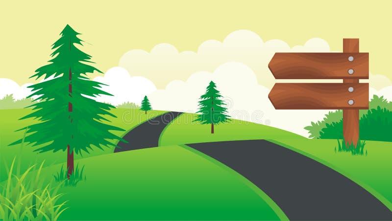 Panneau en bois de signe illustration libre de droits