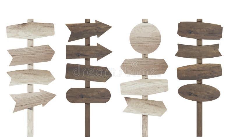 Panneau en bois de signe d'illustration de vecteur illustration libre de droits