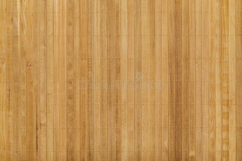 Panneau en bois de teck avec le clou en laiton photographie stock