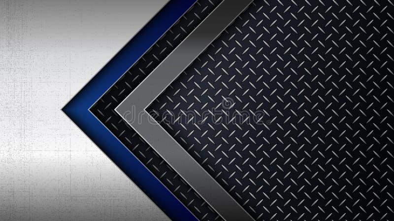 Panneau en métal d'acier inoxydable avec le modèle de plat de diamant illustration de vecteur