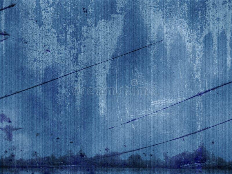 Panneau grunge bleu illustration stock