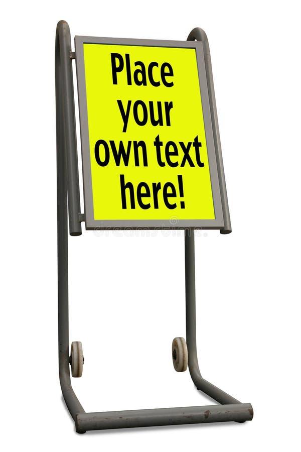 Panneau indicateur à roues photos libres de droits