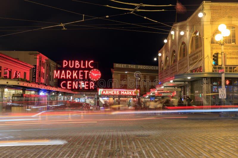 Panneau indicateur de marché publique photo libre de droits
