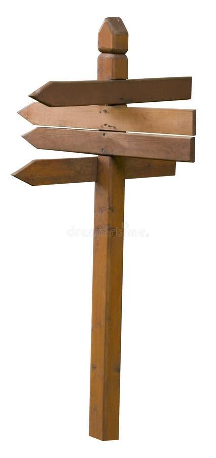 panneau indicateur en bois images stock
