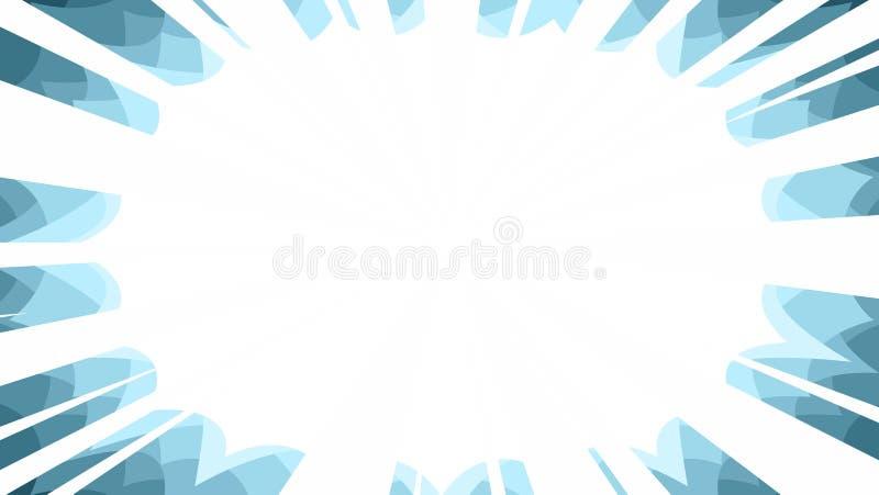 panneau instantané de fond de starburst de rayons de manga illustration stock