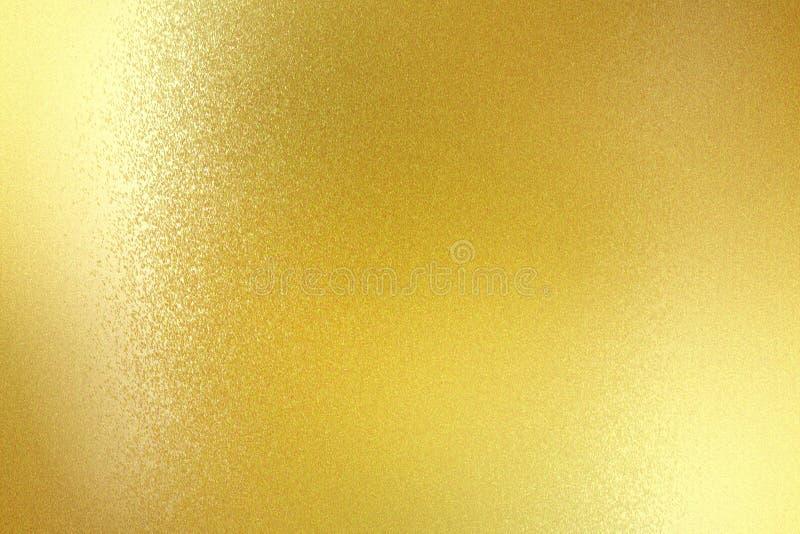 Panneau métallique balayé brillant d'or, fond abstrait de texture illustration de vecteur