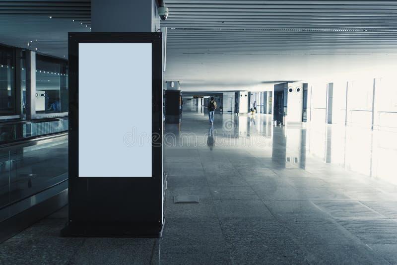 Panneau moderne d'écran noir et blanc de blanc de media de Digital, images libres de droits