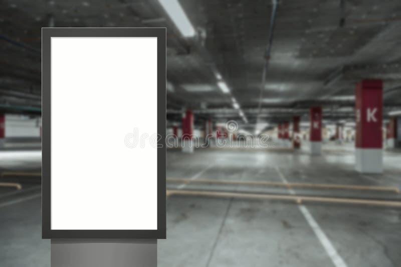 Panneau moderne d'?cran blanc vide de m?dias de Digital, enseigne pour la conception de publicit? dans la poste a?rienne, galerie photos stock