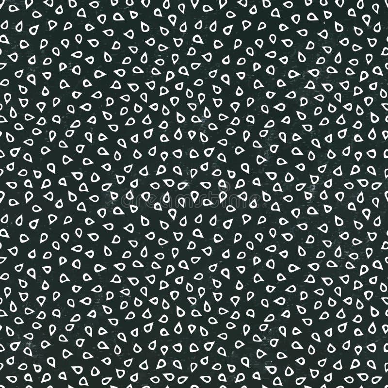 Panneau noir Modèle sans fin sans couture de fond des graines de sésame Collection de nourriture Vecteur de haute qualité tiré pa illustration stock