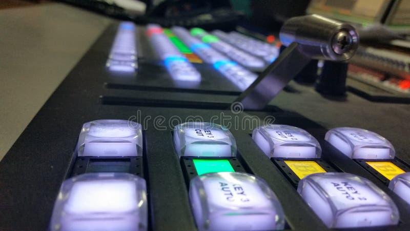 Panneau principal de console visuelle de production photos libres de droits