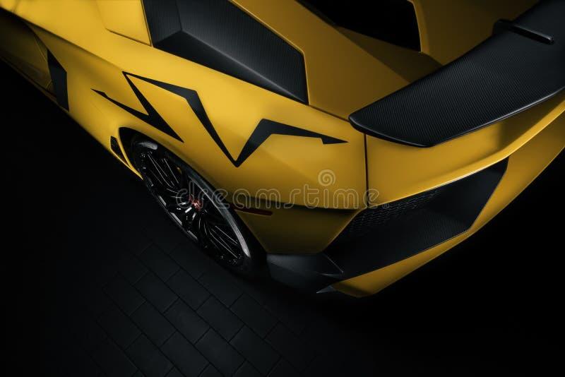 Panneau quart arrière de l'Aventador SV photographie stock libre de droits