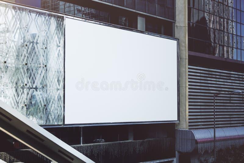 Panneau-réclame blanc blanc images libres de droits