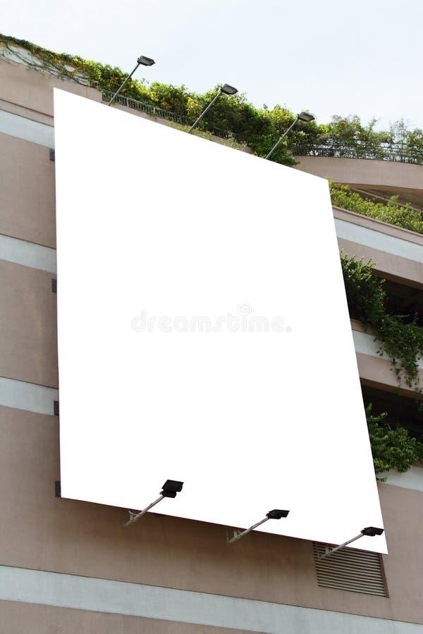 Panneau-réclame blanc images libres de droits