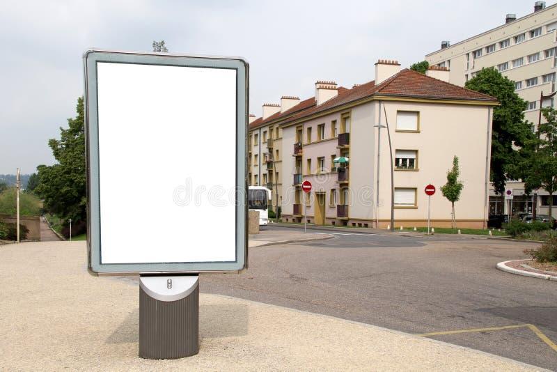 Panneau-réclame blanc photo stock