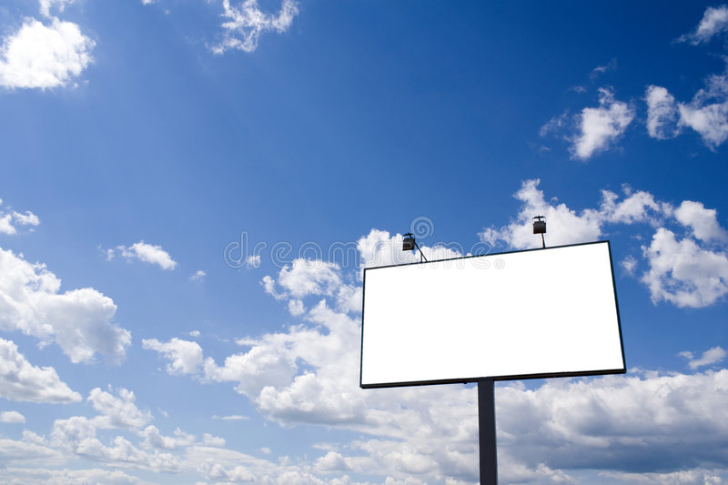 Panneau-réclame blanc photo libre de droits