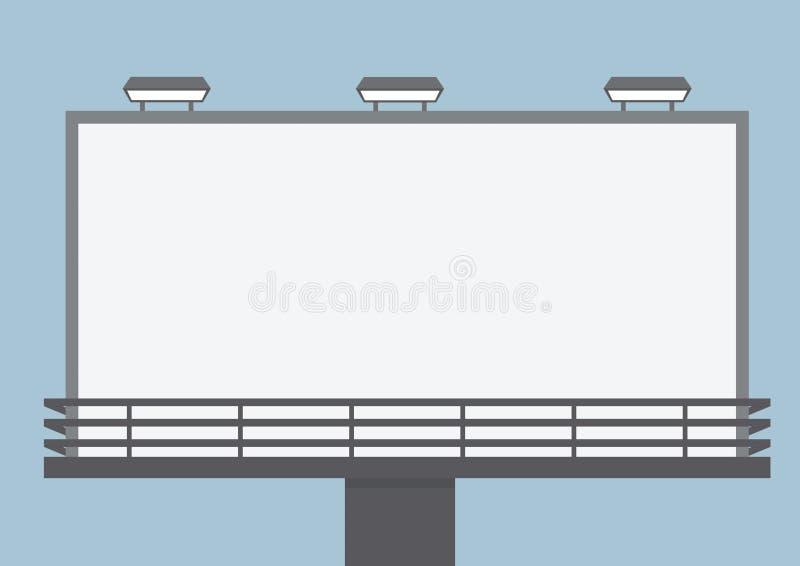 Panneau-réclame blanc extérieur illustration de vecteur