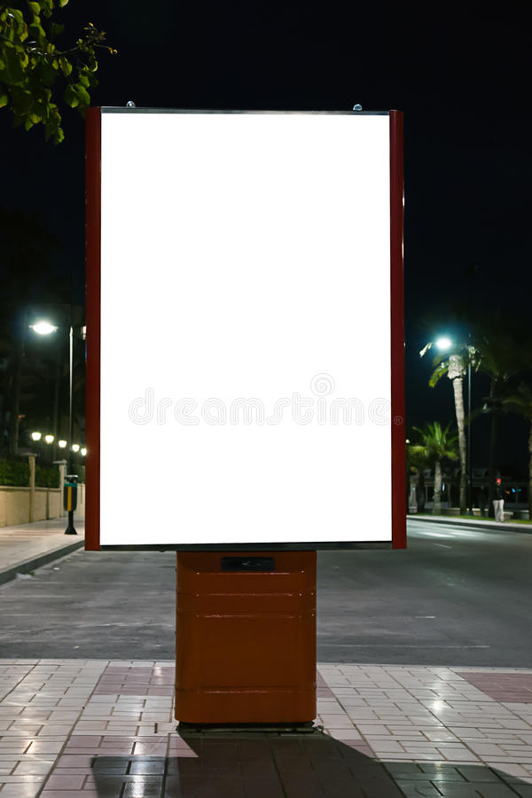 Panneau-réclame blanc vide photographie stock libre de droits