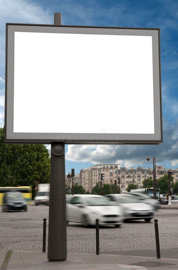 Panneau-réclame dans la rue photographie stock libre de droits