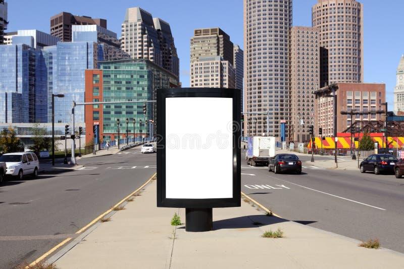 Panneau-réclame dans la ville image stock