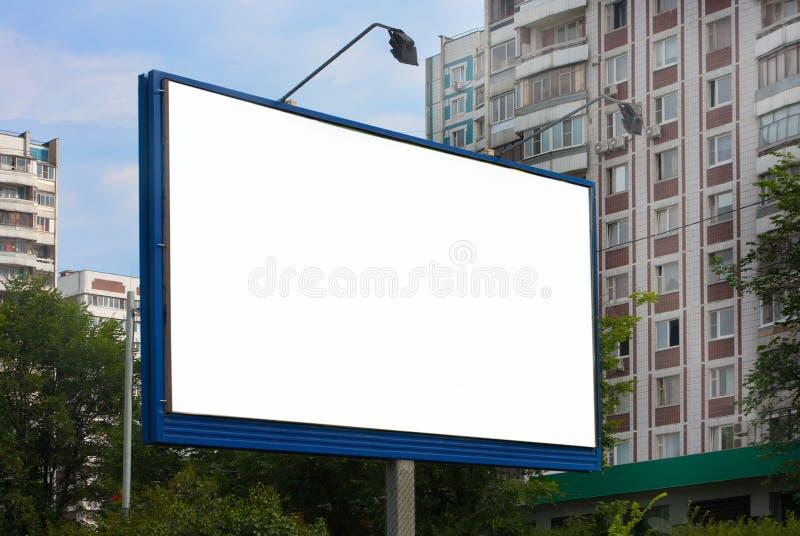 Panneau-réclame dans la ville photo libre de droits