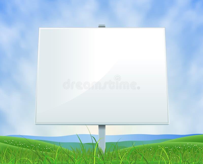 Panneau-réclame de blanc de source ou d'horizontal d'été illustration stock