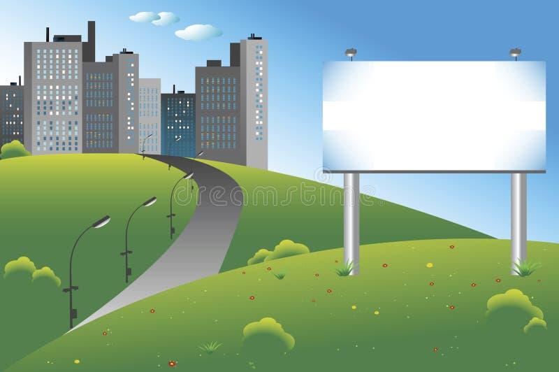 Panneau-réclame de ville illustration de vecteur