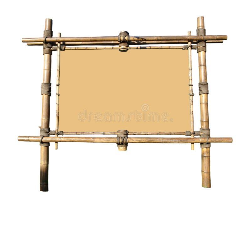 Panneau-réclame en bambou (avec le chemin de découpage) photographie stock libre de droits